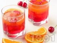 Рецепта Свеж коктейл с водка, портокалов сок, сок от ананас и лайм